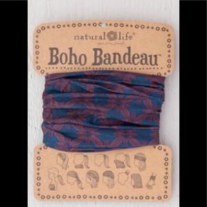 Natural Life Boho Headband Bandeau Red & Blue